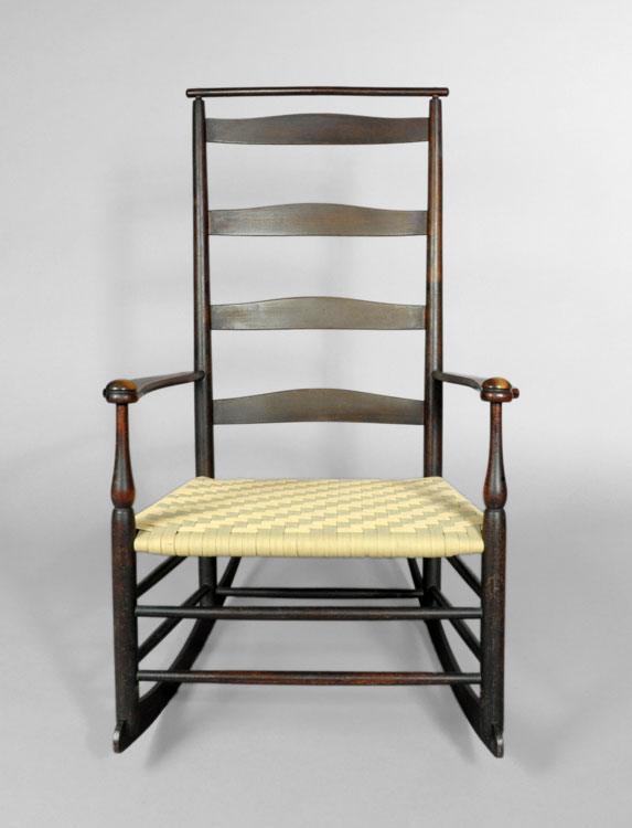 Shaker Production #7 Rocking Arm Chair – SOLD - Shaker Furniture-J K Russell Antiques-Dealing In Shaker Since 1979