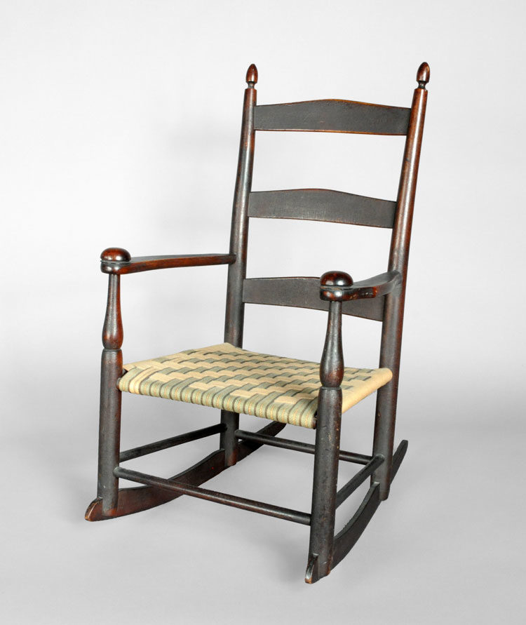 Shaker #0 Production Rocking Arm Chair – SOLD - Shaker #0 Production Rocking Arm Chair - SOLD - JKR Antiques